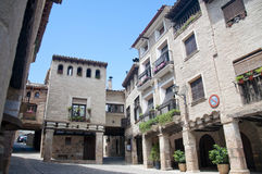 Place principale d'Alquezar Photographie stock