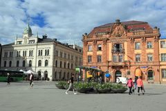 Place principale d'Upsal photographie stock
