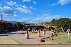 Place principale dans Raquira Images stock