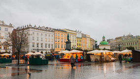 Place principale de Cracovie photo stock