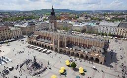 Place principale de Cracovie, Pologne Images stock
