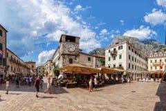 Place principale de Kotor Image libre de droits
