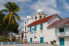 Place principale de la ville de Flores photographie stock libre de droits