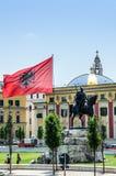 Place principale de Tirana Image libre de droits
