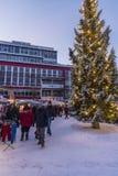 Place principale de Tromsø du marché de Noël Image stock