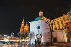 Place principale du marché à Cracovie, une de la ville la plus belle en Pologne Photo stock