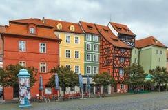 Place principale du marché dans Cheb, République Tchèque Images libres de droits