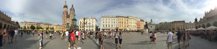 Place principale du marché de Cracovie, Pologne Images libres de droits