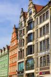 Place principale du marché, maisons d'appartement colorées, Silésie inférieure, Wroclaw, Pologne Images libres de droits