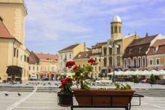 Place principale en Brasov Photographie stock
