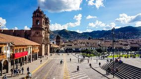 Place principale Peru South America de Cusco photographie stock