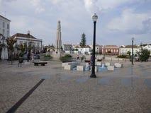 Place publique Tavira Image stock