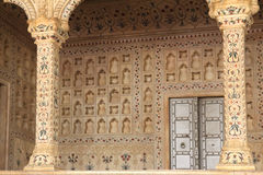 Place of Raja in red Agra Fort Royalty Free Stock Images