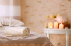Place for relaxation in wellness center. On blurred background Royalty Free Stock Photography