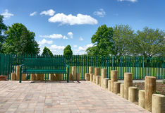 Place for rest in city park. Yorkshire, UK Royalty Free Stock Photography