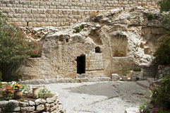 Place of the resurrection of Jesus Christ Stock Image