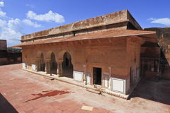 Jaigarh Fort Of Jaipur. Place for royal members beside Charbagh garden inside Jaigarh Fort,Rajasthan royalty free stock image