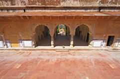 Inside Jaigarh Fort Of Jaipur. Place for royal members beside Charbagh garden inside Jaigarh Fort,Rajasthan stock photos