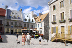 Place royal place part of Old Quebec. QUEBEC CITY, CANADA - AUGUST 25: Place royal place part of Old Quebec, a UNESCO world heritage treasure on August 25, 2010 Stock Photo