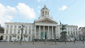 Place Royale in Brussels stock video footage