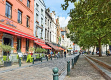 Place Saint Catherine in Brussels, Belgium Stock Photos