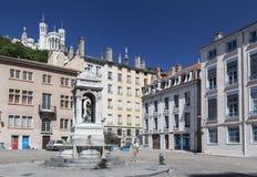 Place Saint-Jean Basilica of Notre-Dame de Fourvière Lyon France Royalty Free Stock Photos