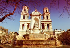 Place Saint Sulpice in Paris Royalty Free Stock Photos