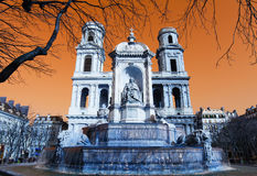Place Saint Sulpice in Paris Royalty Free Stock Photo