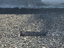 Place of sample of asphalt concrete coating. Kern Royalty Free Stock Photo