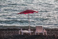 A place by the sea to relax. royalty free stock photo