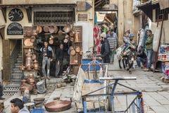Place Seffarine. Fez El Bali Medina. Fez, Morocco. Africa. Royalty Free Stock Images