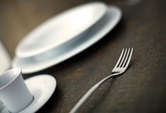 Place setting. In a restaurant, close-up shallow dof stock photos