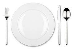 Place setting 3. Place setting with dish fork and knife stock photography