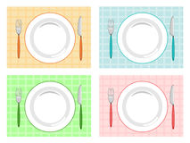 Place setting. On four color Stock Photo