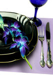 Place Setting Blue royalty free stock photos