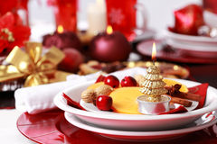 Place setting for Christmas Royalty Free Stock Photo