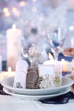 Place setting for Christmas Stock Images