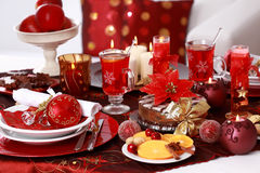 Place setting for Christmas Royalty Free Stock Images
