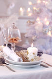 Place setting for Christmas Stock Image