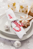 Place setting for Christmas Royalty Free Stock Photography