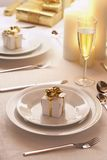 Place setting at Christmas Royalty Free Stock Images