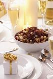 Place setting at Christmas Stock Images