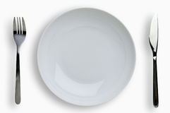 Place setting with clipping path Royalty Free Stock Photography