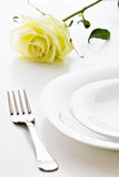 Place setting closeup Royalty Free Stock Photo