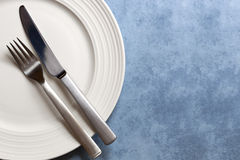 Place Setting with Copy Space Stock Image