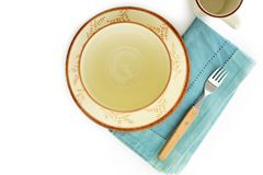 Place setting with copy space Stock Photo