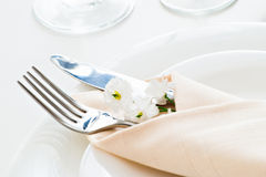 Place setting detail Royalty Free Stock Photos