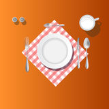Place setting. Dining table place setting illustration Stock Image