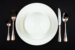 Place setting for dinner Royalty Free Stock Images