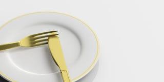 Place Setting, do not like signal on white background. 3d illustration Royalty Free Stock Image